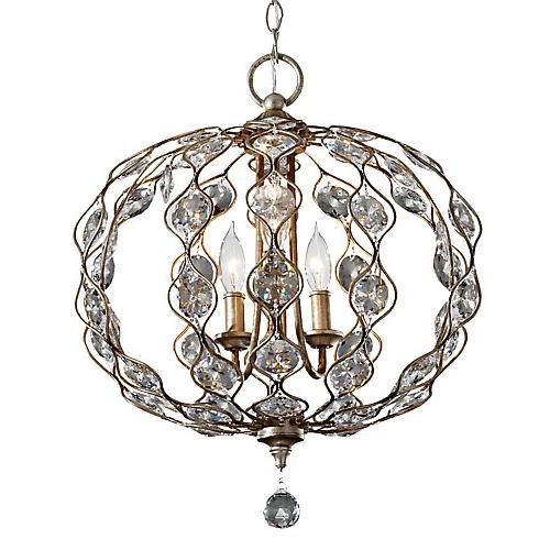 Leila 3-Light Chandelier, Silver