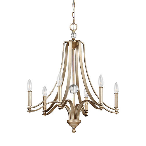 Evington 6-Light Chandelier, Sunset Gold
