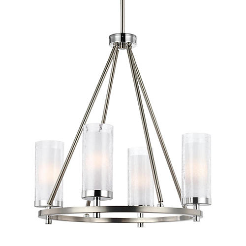Jonah 4-Light Chandelier, Satin Nickel