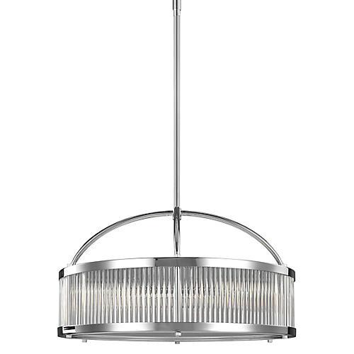 Paulson 3-Light Pendant, Chrome/Clear