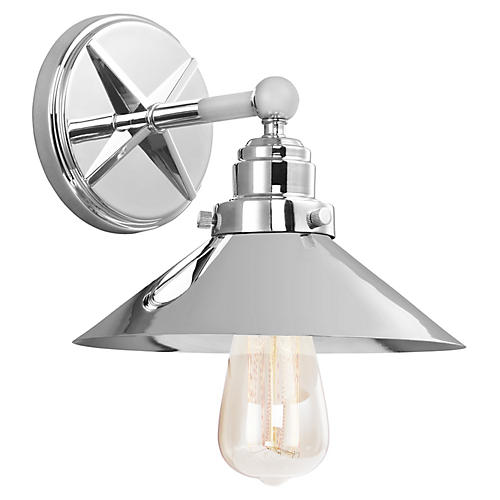 Hooper Sconce, Chrome