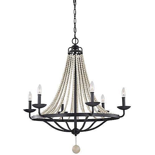Nori 6-Light Chandelier, Weathered Zinc/Gray