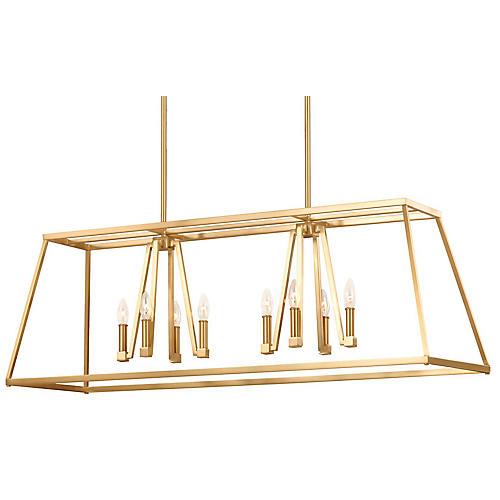 Conant 8-Light Chandelier, Satin Brass