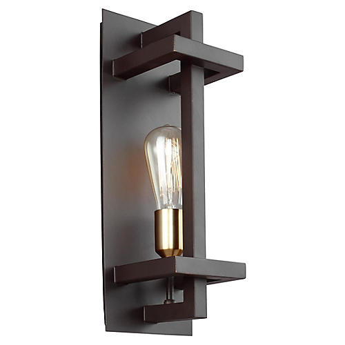 Finnegan Small Sconce, New World Bronze