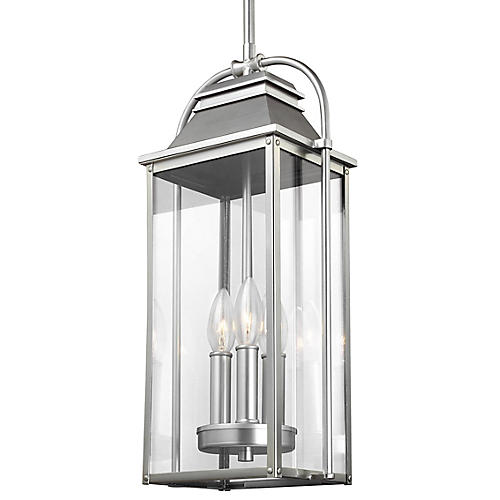 Wellsworth Outdoor Pendant, Brushed Steel