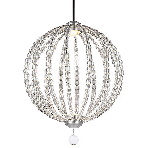 Oberlin 2-Light Pendant, Satin Nickel