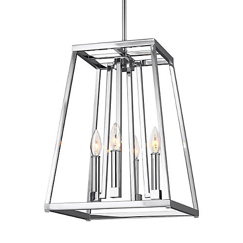 Conant 4-Light Pendant, Chrome