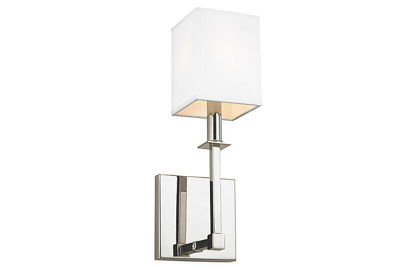Quinn Sconce, Polished Nickel