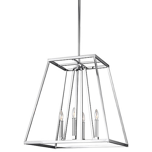 Conant 4-Light Wide Pendant, Chrome