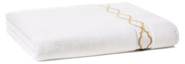 Trellis Bath Sheet, Dune