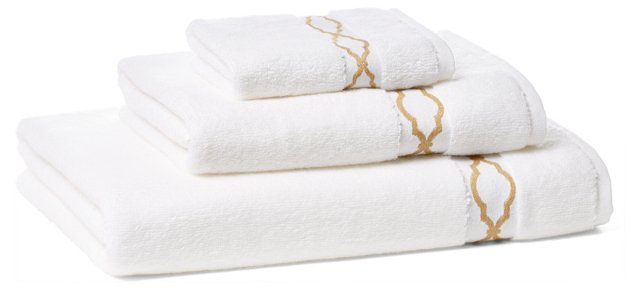 Trellis Towel Set, Dune