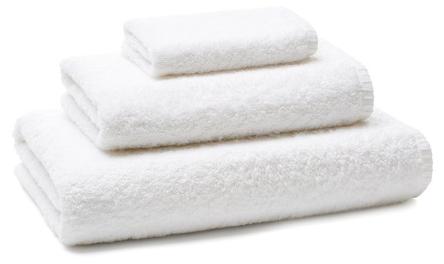 Whip-Stitch Towel Set, Optic White
