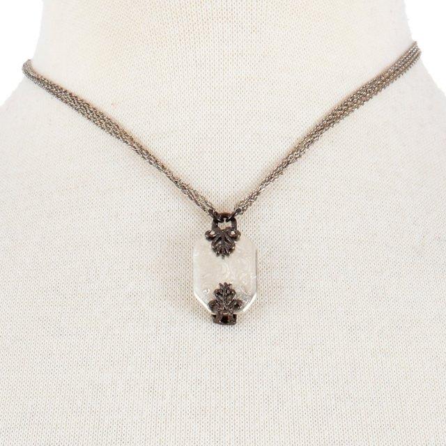 Sterling Silver Vintage Prong Necklace