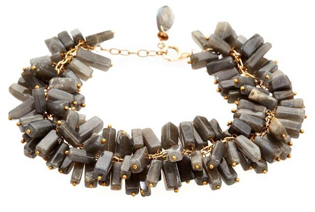 Labradorite Ruffle Bracelet