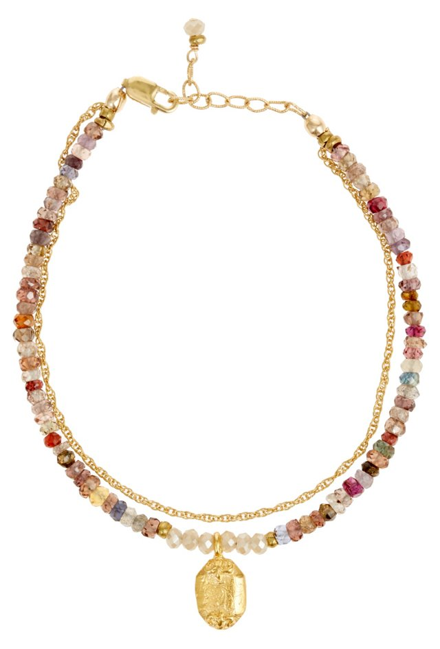 Sapphire & Medallion Bracelet