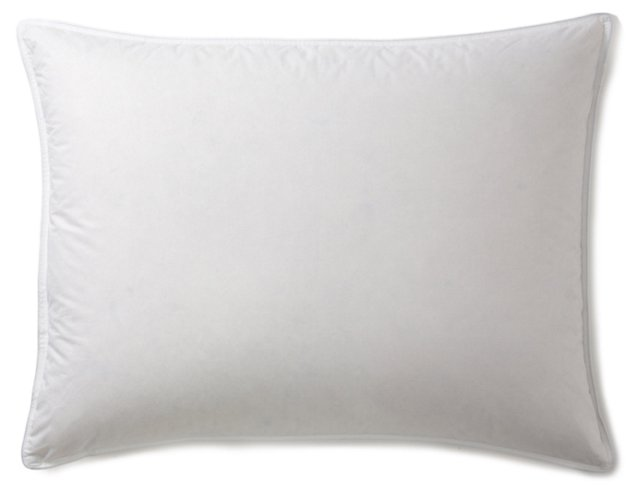 White Down Pillow & Protector, Firm