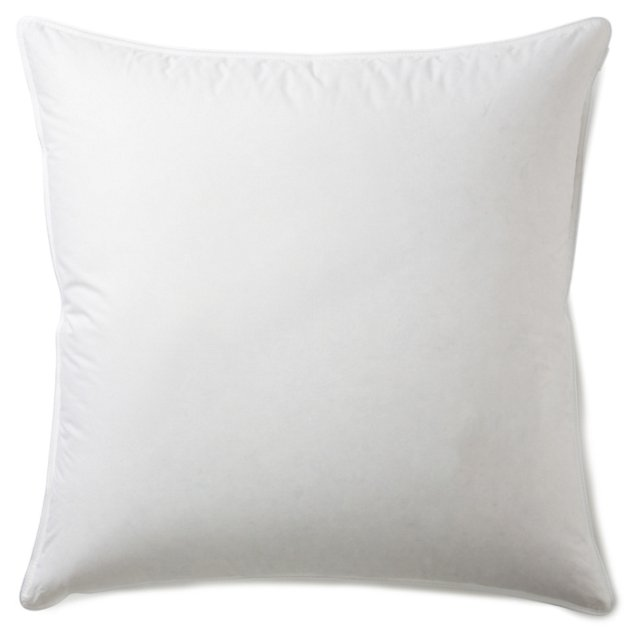 White Down Euro Pillow & Protector, Med