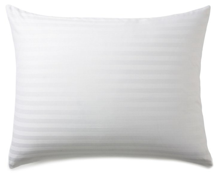 S/2 Damask Pillow Protector, White
