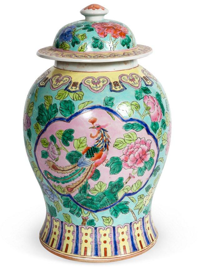 Bird & Floral Urn
