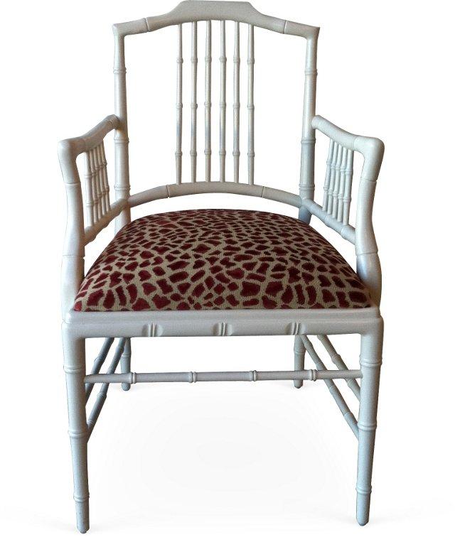 Bamboo-Style Armchair