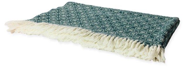 Rosecrans Forest Green Blanket, Twin