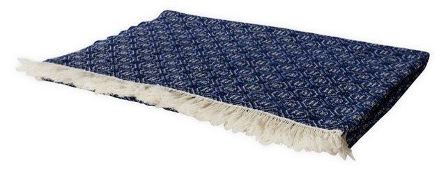 Rosecrans Navy Blue Blanket, Twin