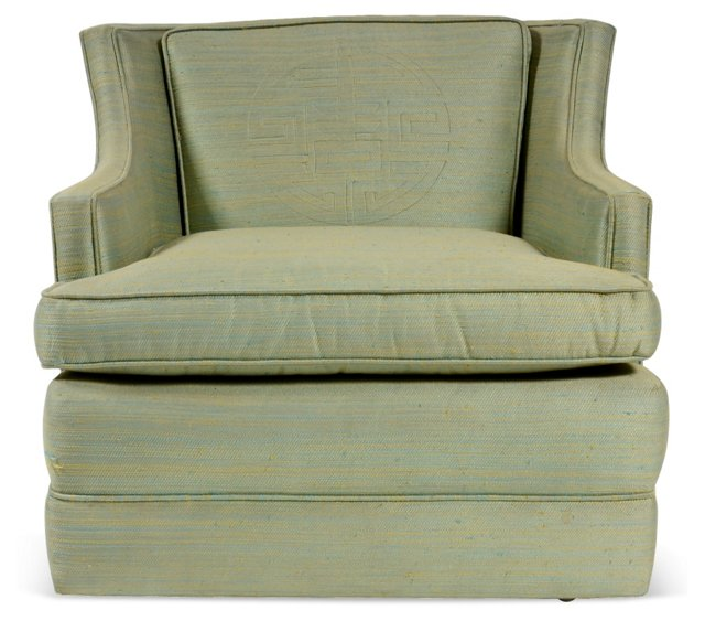 Green Chinese Medallion Chair