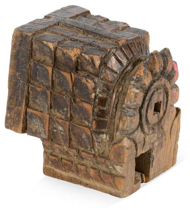 Carved Wood Block