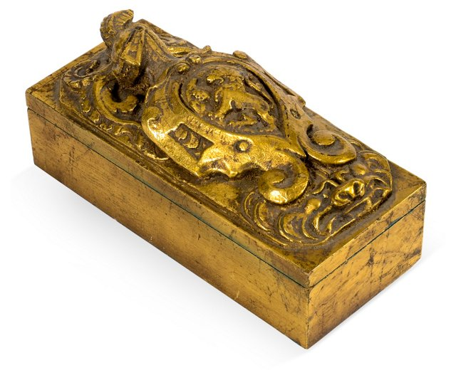 Gold Coat of Arms Box