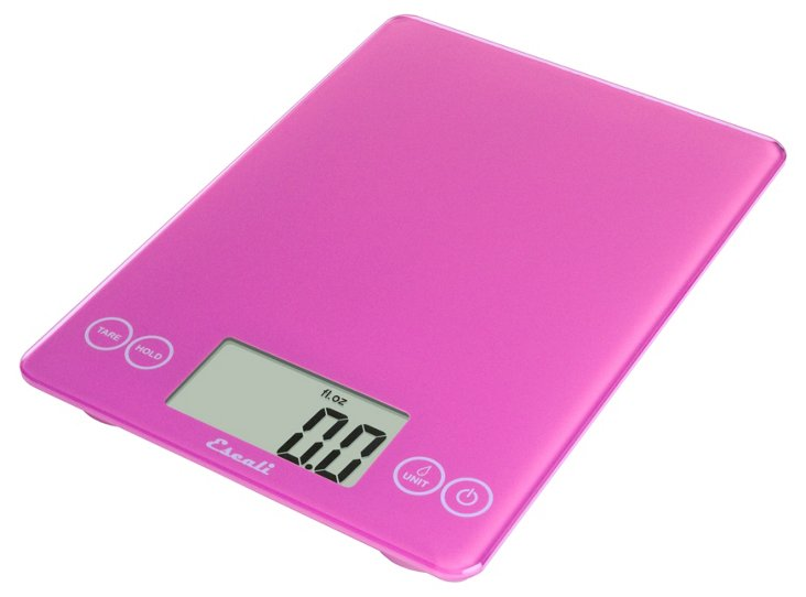 Pink Multipurpose Glass Scale, 15 lbs