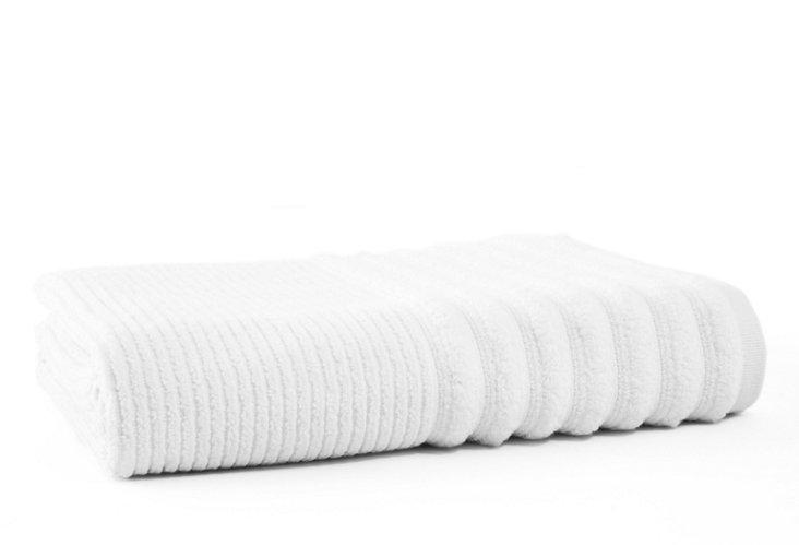 Bouclé Rib Bath Towel, White