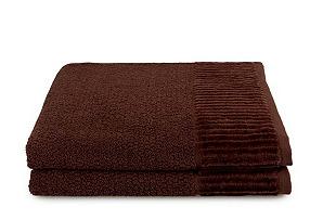 Espalma S/2 Amour Hand Towels, Chocolate