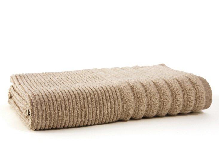 Bouclé Rib Bath Towel, Linen