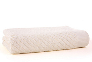 Diagonal Bath Towel,  Ivory