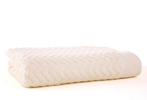 Zigzag Bath Towel, Ivory