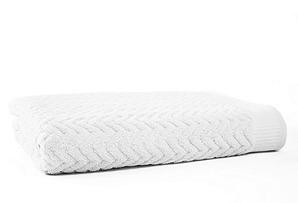 Zigzag Bath Towel, White
