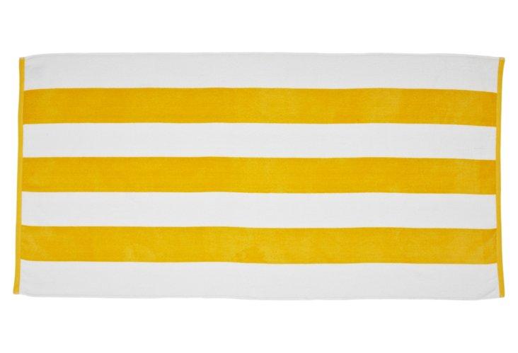 Cabana Stripe Beach Towel, Marigold