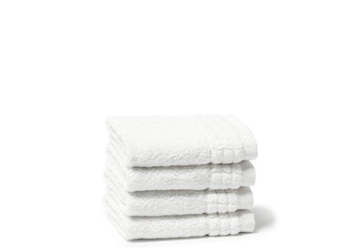 S/4  Ecstasy Washcloths, White