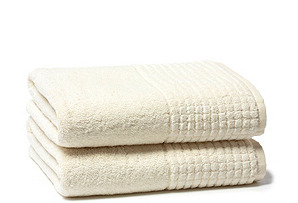 S/2 Ecstasy Bath Towels, Ivory
