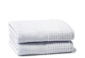 S/2 Ecstasy Bath Towels, Blue