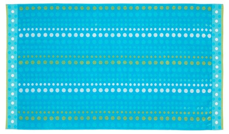 Dots Beach Towel, Aqua
