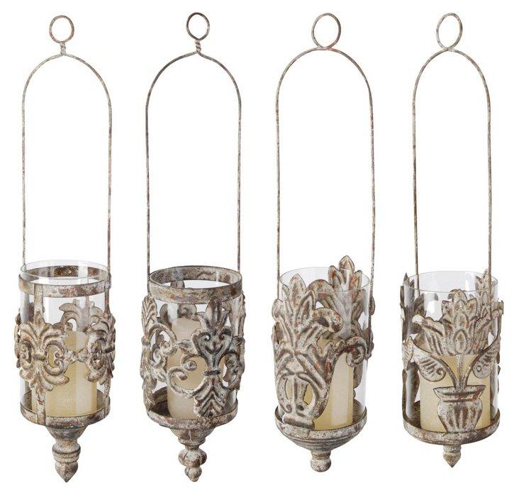 Metal Hanging Lanterns, Asst. of 4