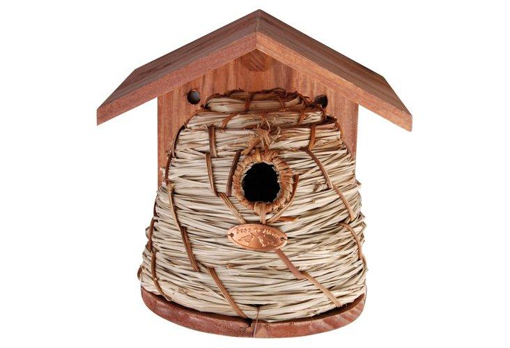 """10"""" Woven Birdhouse"""