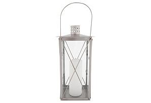 """14"""" Timeless Steel Lantern, Silver"""