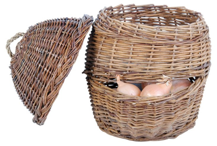 "13"" Willow Basket, Natural"