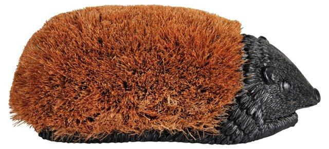 "15"" Hedgehog Boot Brush, Brown"