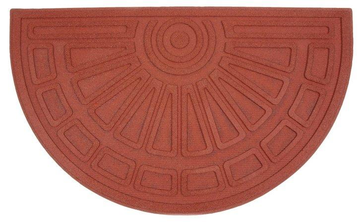 Half-Round Doormat, Red