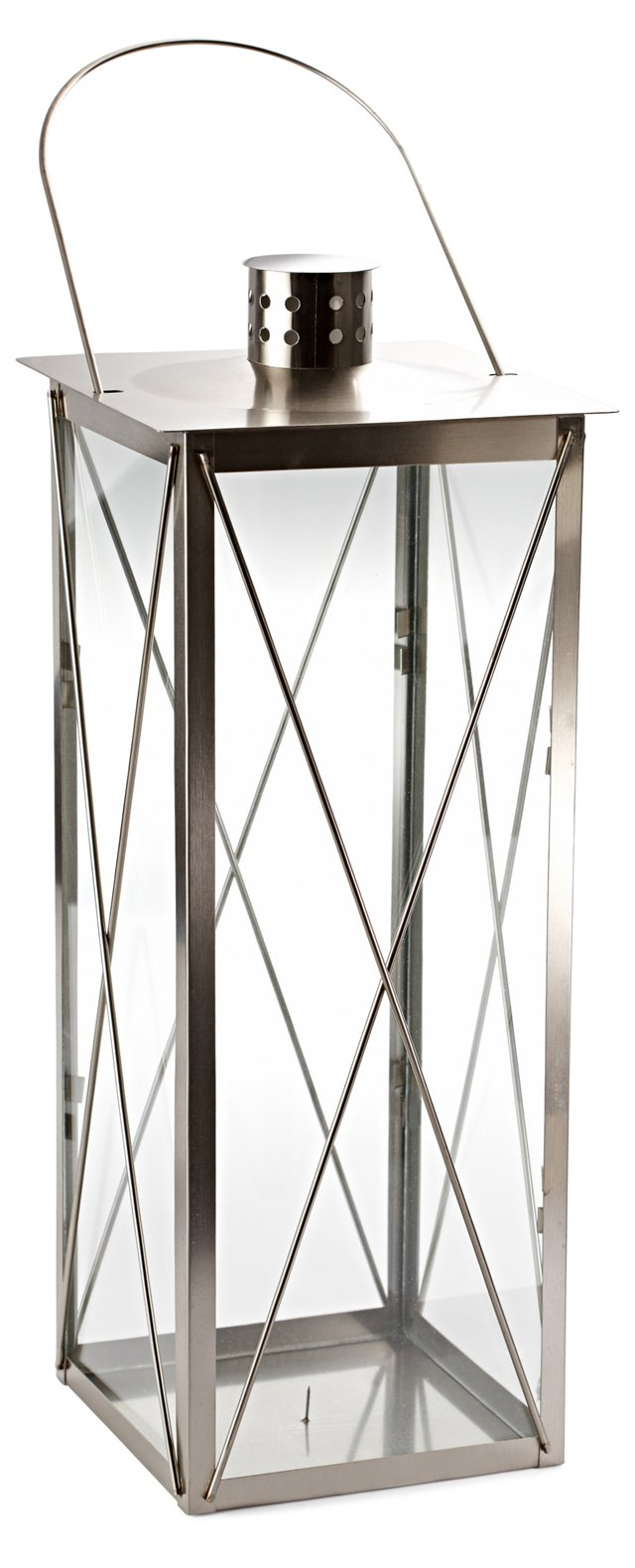 "26"" Timeless Stainless Lantern, Silver"