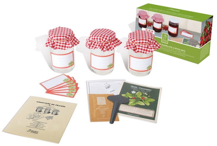 Strawberry Jam Set w/ Jars