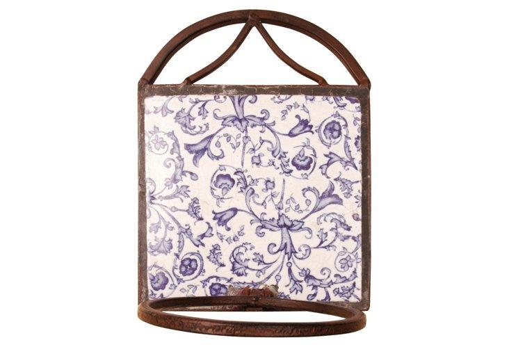 S/3 Blue & White Flowerpot Holders